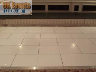 pure white dance flooring for hire