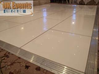 pure white sprung dance floor